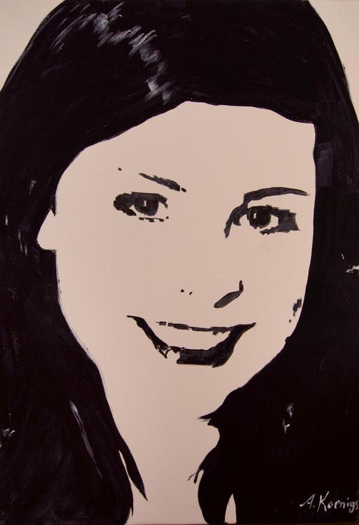"""Acryl auf Leinwand 50x70              """"Lena 3""""                               2011"""