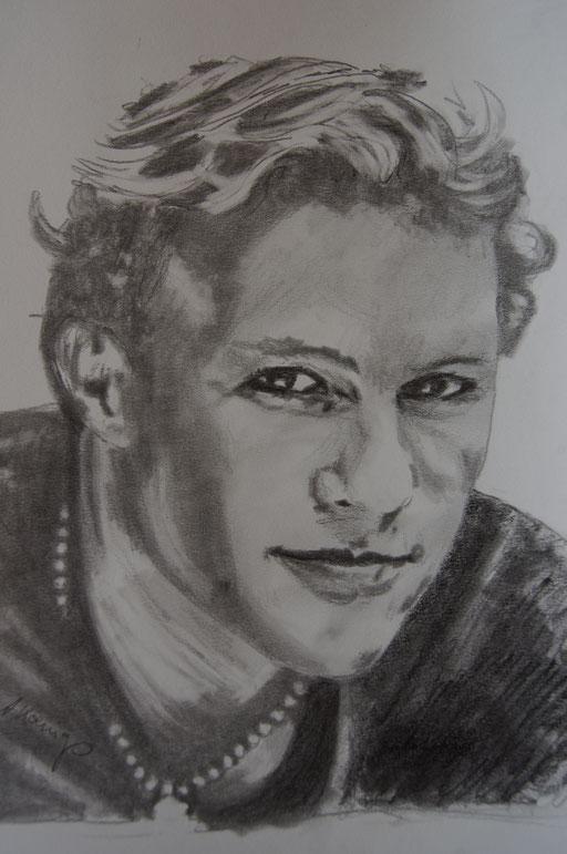 """Bleistift auf Papier """"H.L.""""                                                            2011"""