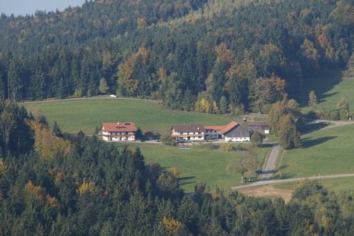 Luftaufnahme des Ferienhofs Christa 1