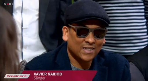 Xavier Naidoo wearing Kerbholz glasses at Prominent on VOX - April 1, 2015