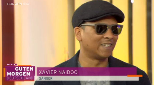 Xavier Naidoo wearing Kerbholz glasses at Guten Morgen Deutschland on RTL Television - April 1, 2015