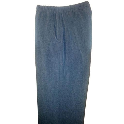 pantalon femme coupe ville tout taille élastique gris