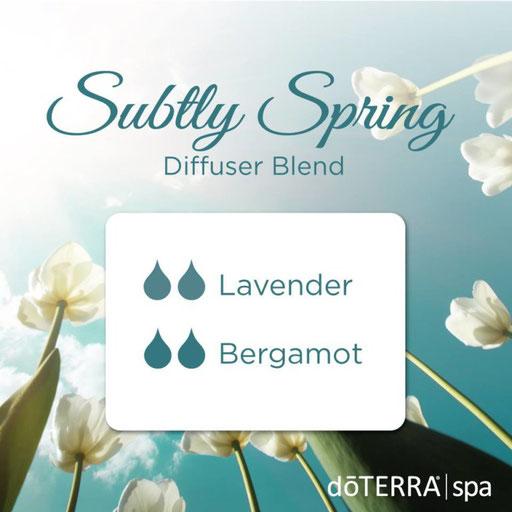 Aroma Welt: doTERRA Bergamot - Bergamotte Ätherisches Öl Diffusermischungen - Diffuser Ideen: Subtly Spring - Lavender