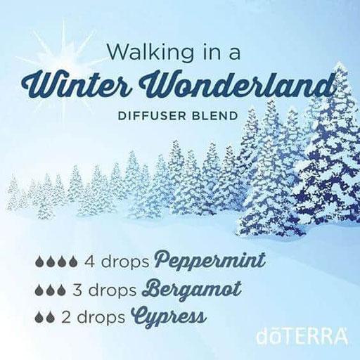 Aroma Welt: doTERRA Bergamot - Bergamotte Ätherisches Öl Diffusermischungen - Diffuser Ideen: Winter Wonderland - Peppermint, Cypress