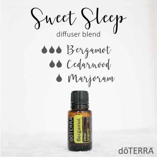 Aroma Welt: doTERRA Bergamot - Bergamotte Ätherisches Öl Diffusermischungen - Diffuser Ideen: Sweet Sleep - Cedarwood & Marjoram