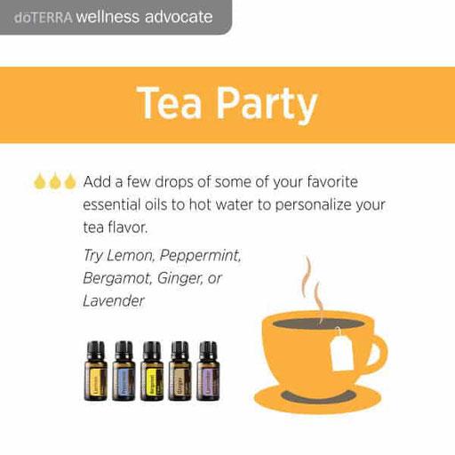 Aroma Welt: doTERRA Bergamot - Bergamotte Ätherisches Öl Tea Party Ideas - Ätherische Öle für Tee
