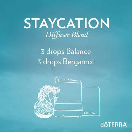Aroma Welt: doTERRA Bergamot - Bergamotte Ätherisches Öl Diffusermischungen - Diffuser Ideen: Staycation - Balance