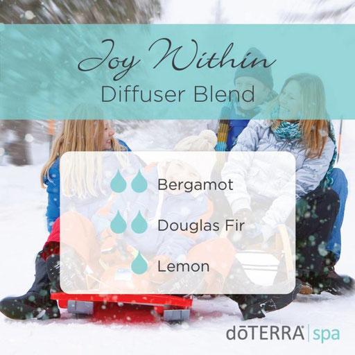 Aroma Welt: doTERRA Bergamot - Bergamotte Ätherisches Öl Diffusermischungen - Diffuser Ideen: Joy Within - Douglas Fir & Lemon