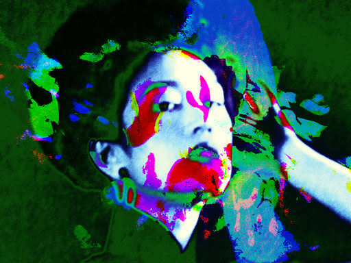Chinese Woman 02.1_2010_98x80 cm_Stoffdruck