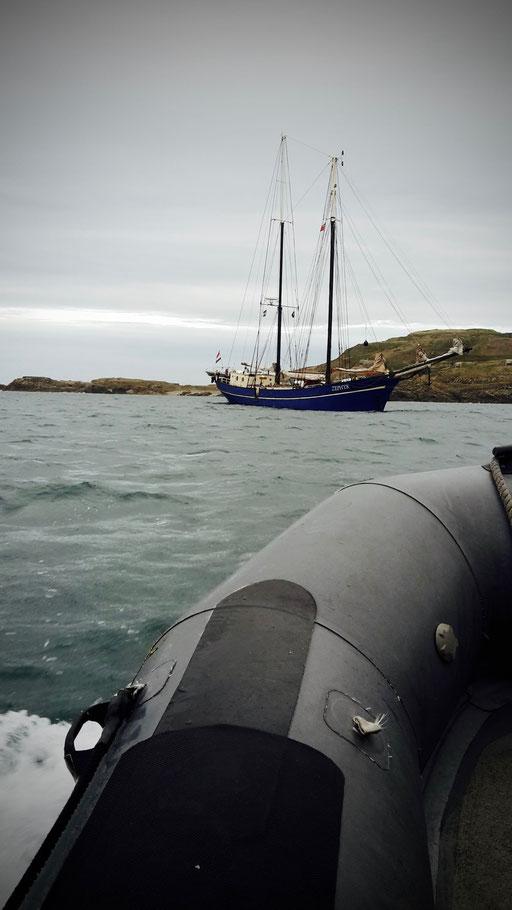 Alderney - Kinky nötig um an Land zu kommen