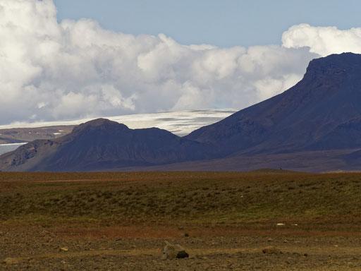 Langjökull - der erste Gletscher in Sicht