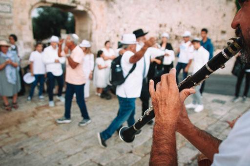 חליל - תהלוכת תופים בכותל