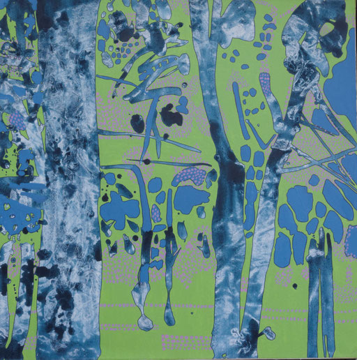 jardin d'Eden Ib, acrylique sur toile, 65 x 65 cm.