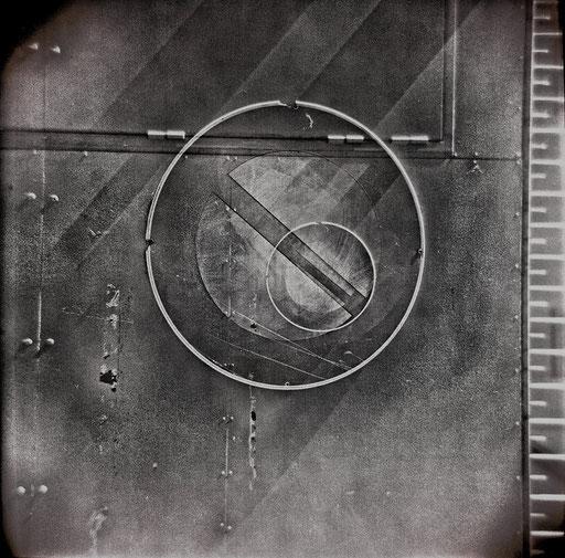 7. impression jet d'encre  contrecollée sur dibond, 80 x 80 cm.
