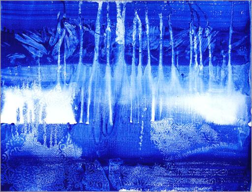 pigment et acrylique sur papier, 48 x 36 cm.