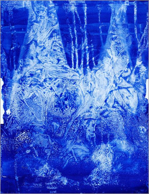 pigment et acrylique sur papier, 36 x 48 cm.