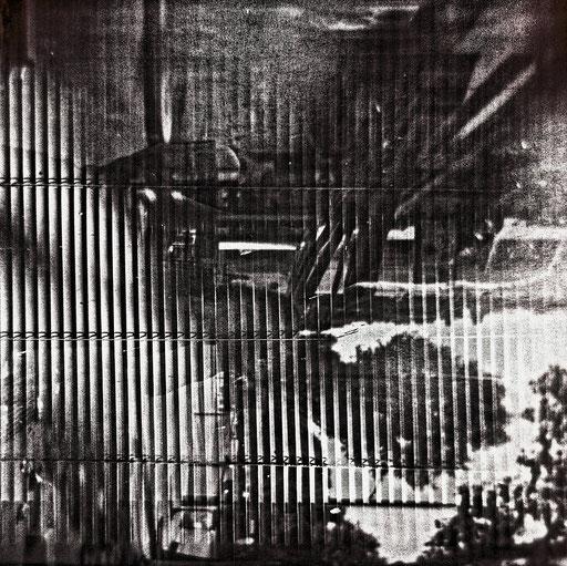 5. impression jet d'encre  contrecollée sur dibond, 80 x 80 cm.