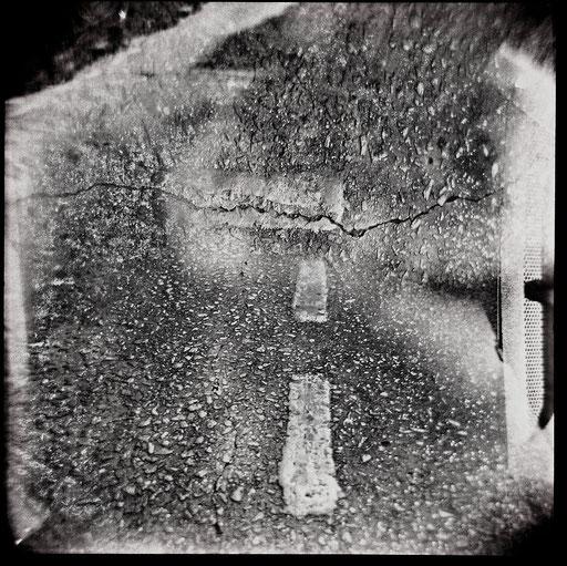 2. impression jet d'encre  contrecollée sur dibond, 80 x 80 cm.