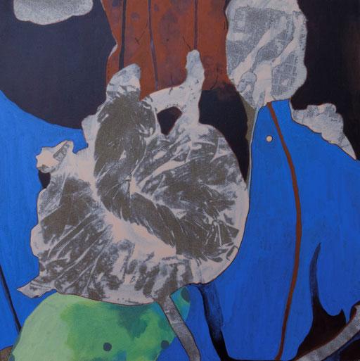 jardin d'Eden Ia, acrylique sur toile, 50 x 50 cm.