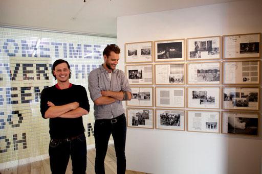 Christoph Oeschger und  Christof Nüssli - an der Ausstellung in Amsterdam