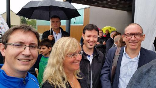 Christophe et Nathalie en compagnie de Guillaume MICHON (Psdt Ligue) et Jean-Michel SAGET (CTS FFE)