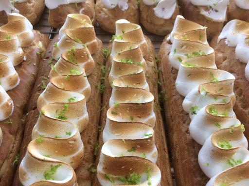 Eclairs meringue citron de la boulangerie pâtisserie PREISLER à Courcelles-Chaussy