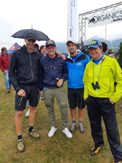 Toni mit Thomas Morgenstern, Alex und Simon