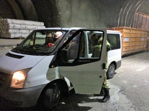 Ford Transit vom Kössler Martin im Brennerbasistunnel