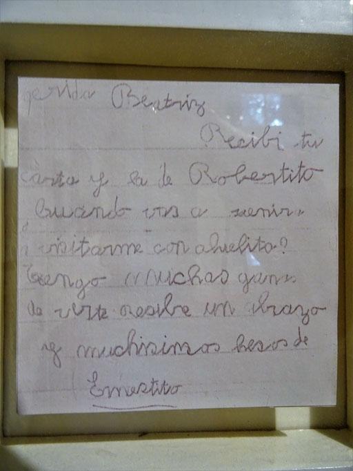 Brief an seine Tante Beatriz