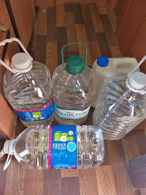 Unser Wasservorrat für eine Woche