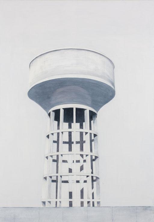 Château d'eau . huile sur toile. 162/113 cm . 2015