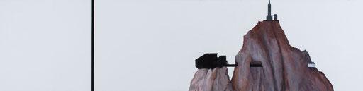 Aiguille . huile et acrylique sur toile . 60/240cm . 2015