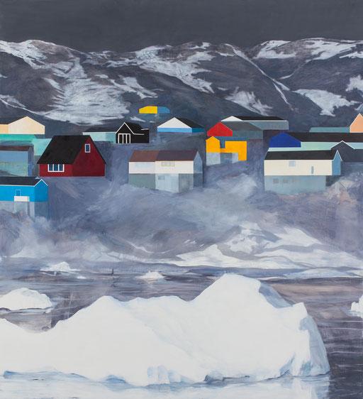 Paysage. huile sur toile. 145/135 cm . 2015