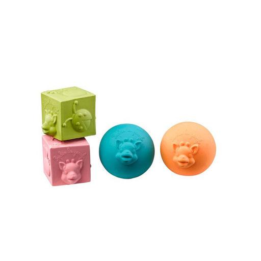 Set de balles et cubes doux