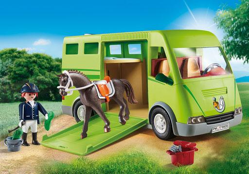 Playmobil - Cavalier avec van et cheval
