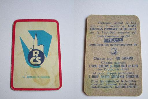 """Carte publicitaire """"Miroir Sprint"""" (journal sportif) date inconnue (Contributeur Pepito)"""