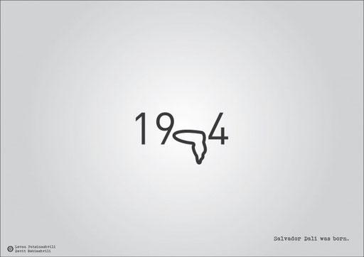 Год рождения Сальвадора Дали.