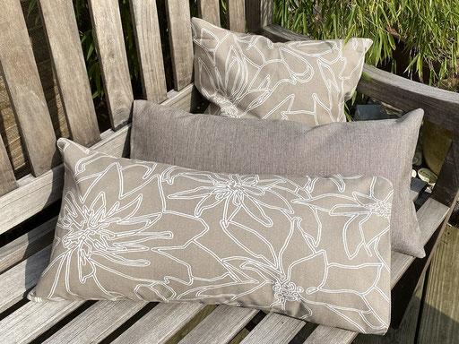 Kissenbezüge hellbraun Baumwolle  | grafisches Muster