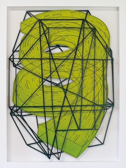 Zone (on white) #02 Acrylic and ink on foam board 70 x 50 x 2.5 cm, 2015