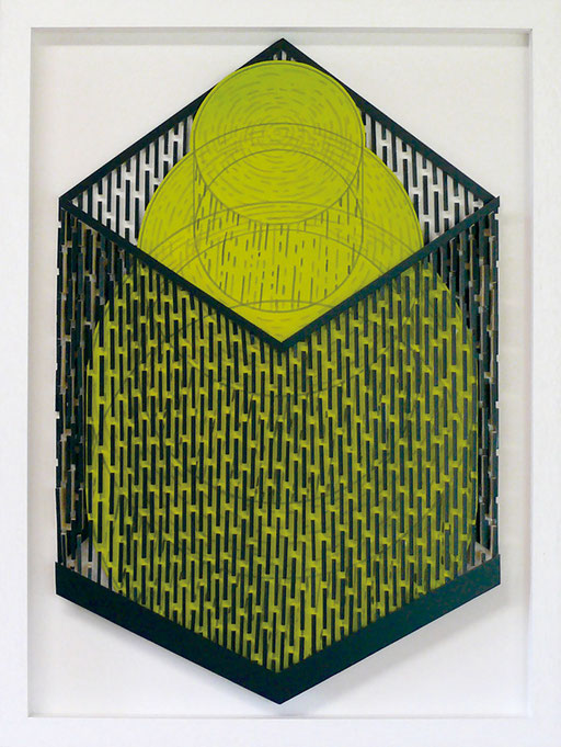 Zone (on white) #03 Acrylic and ink on foam board 70 x 50 x 2.5 cm, 2015