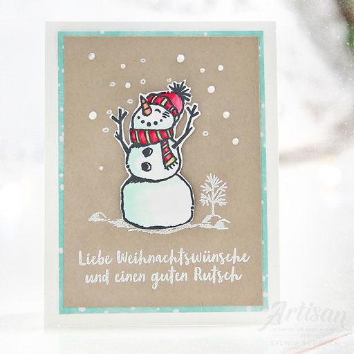Schneemannkarte
