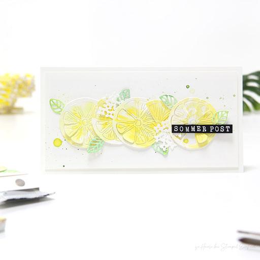 Sommerpost mit Zitronen