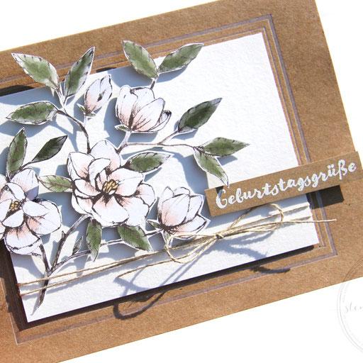 Karte mit Magnolien