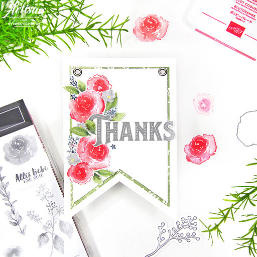 thanks banner-stampin up