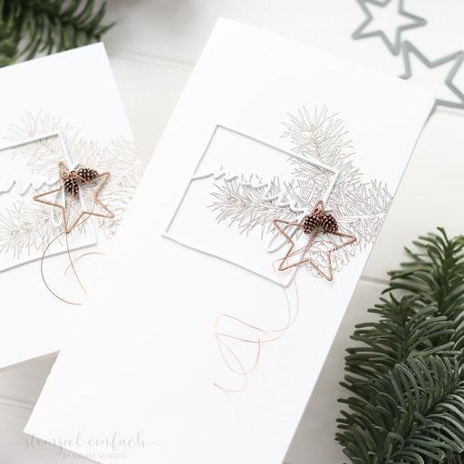 schlichte Weihnachtskarten