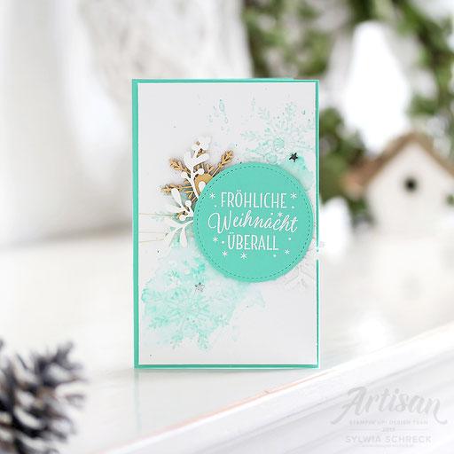 Weihnachtskarte in Jade