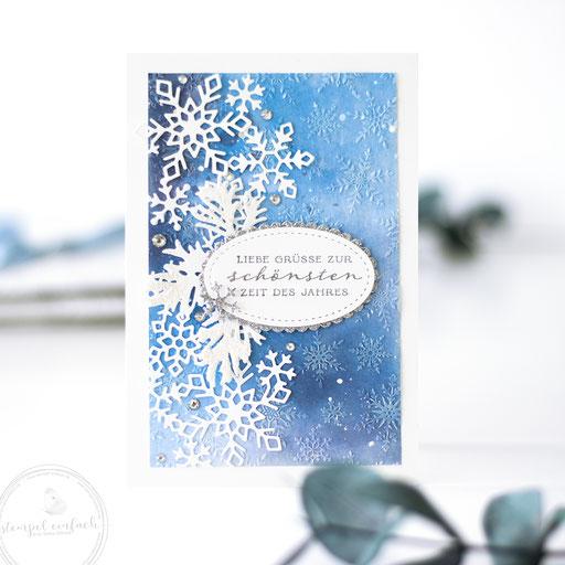 Weihnachtskarten Schneeflocken