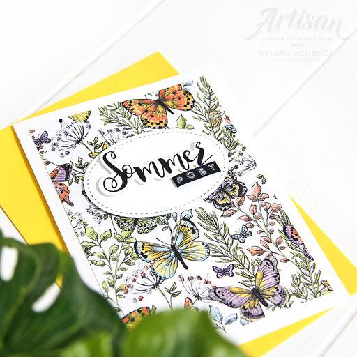 Sommerpost mit Schmetterlingen