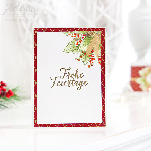 weihnachtskarte-wunderbare weihnachtszeit