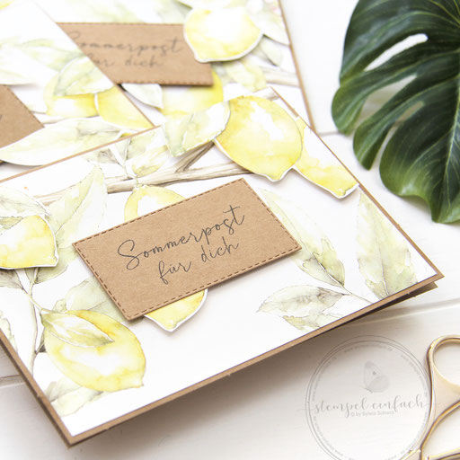 Sommerpost mit Zitronen-DP